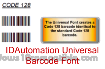 Universal Barcode Font Advantage 14 11 Free download